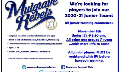 Junior Training is BACK!!
